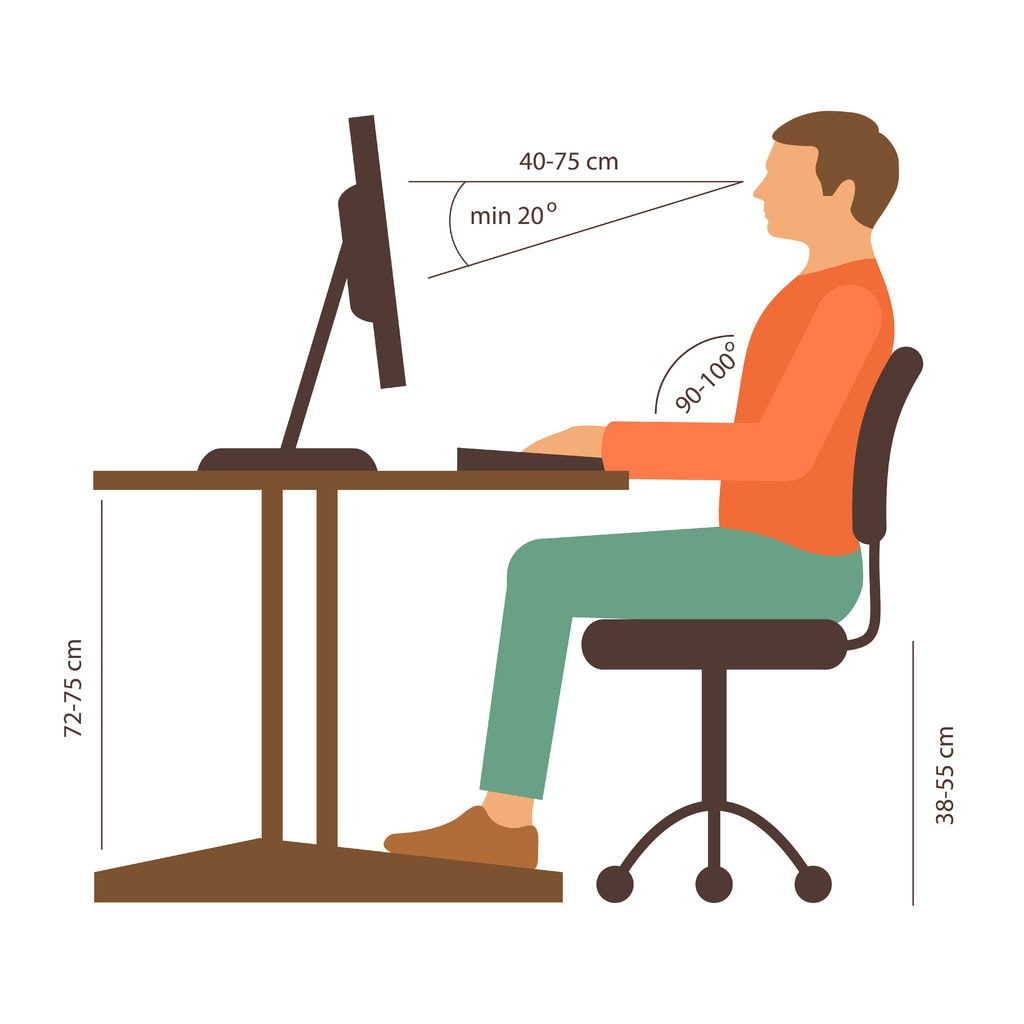 Correct Back Posture At Desk - How To Sit Correctly and Ergonomically At Your Desk | https://physiologicnyc.com/chiropractic/