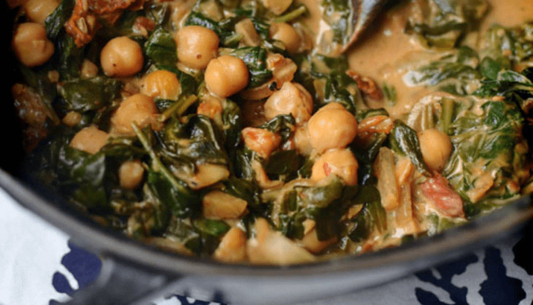 spinach and chickpeas to boost your immune system