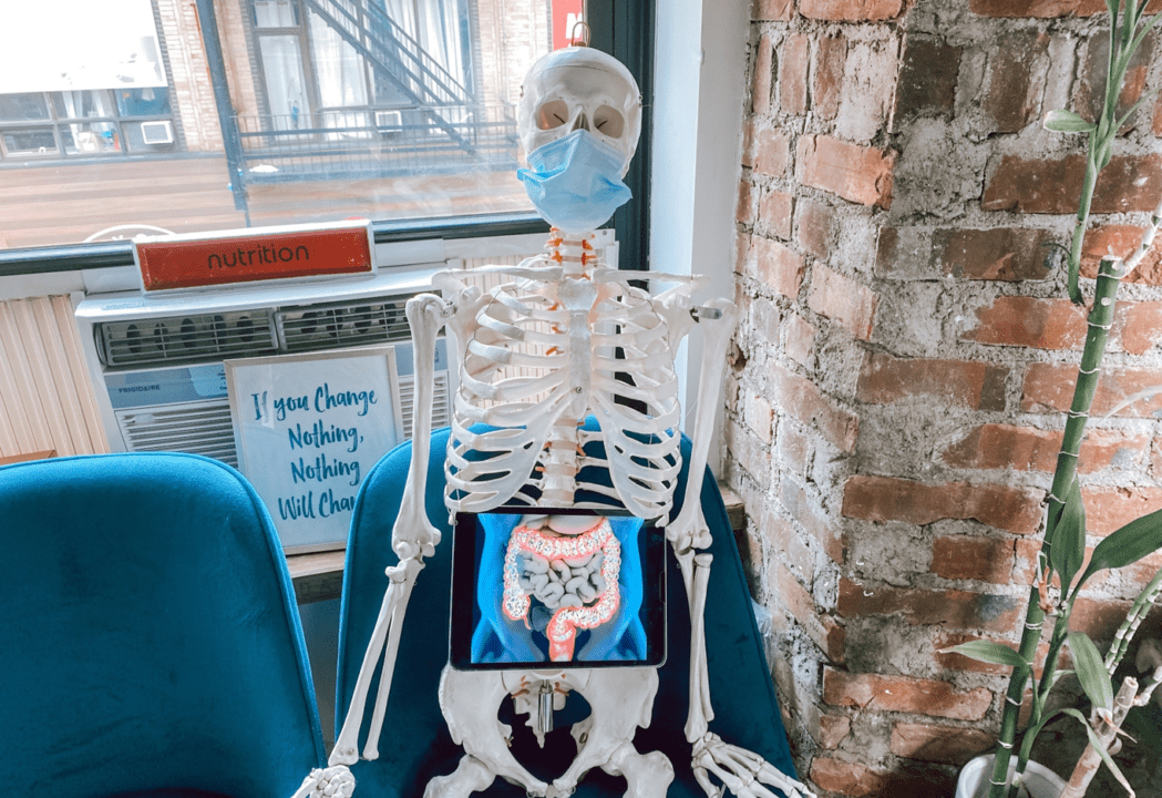 The Physio Logic NYC skeleton wants to know, what is leaky gut and what are leaky gut causes.